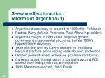 seesaw effect in action reforms in argentina 1