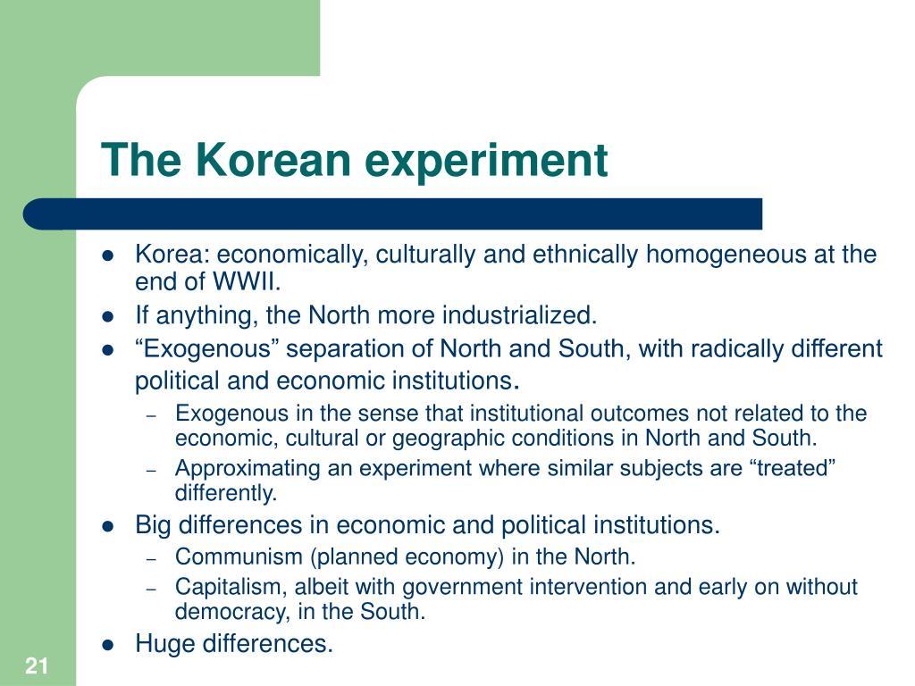 The Korean experiment