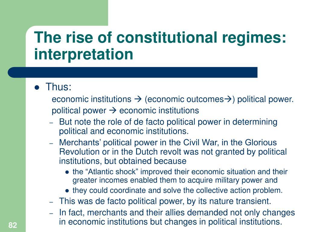 The rise of constitutional regimes: interpretation