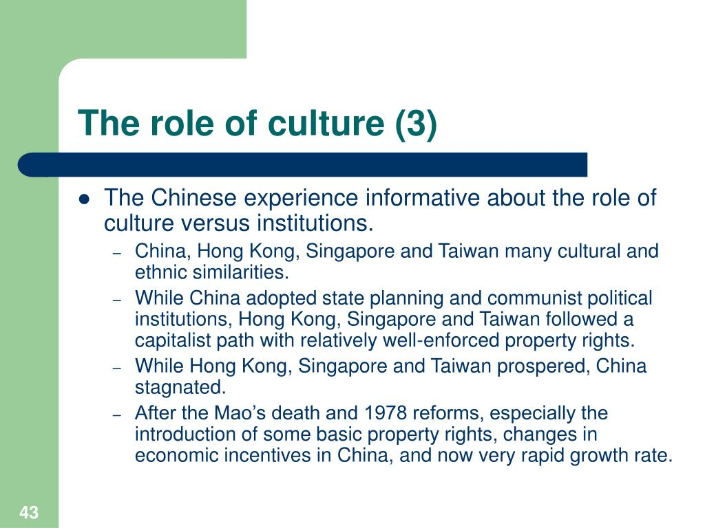 The role of culture (3)