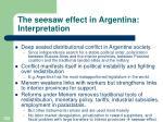 the seesaw effect in argentina interpretation