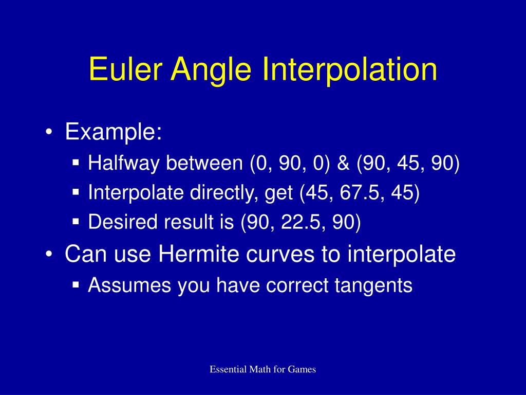 Euler Angle Interpolation