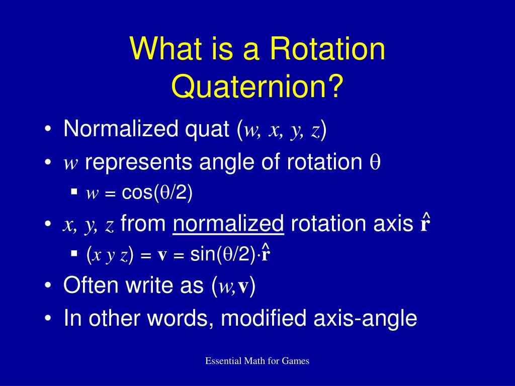 What is a Rotation Quaternion?