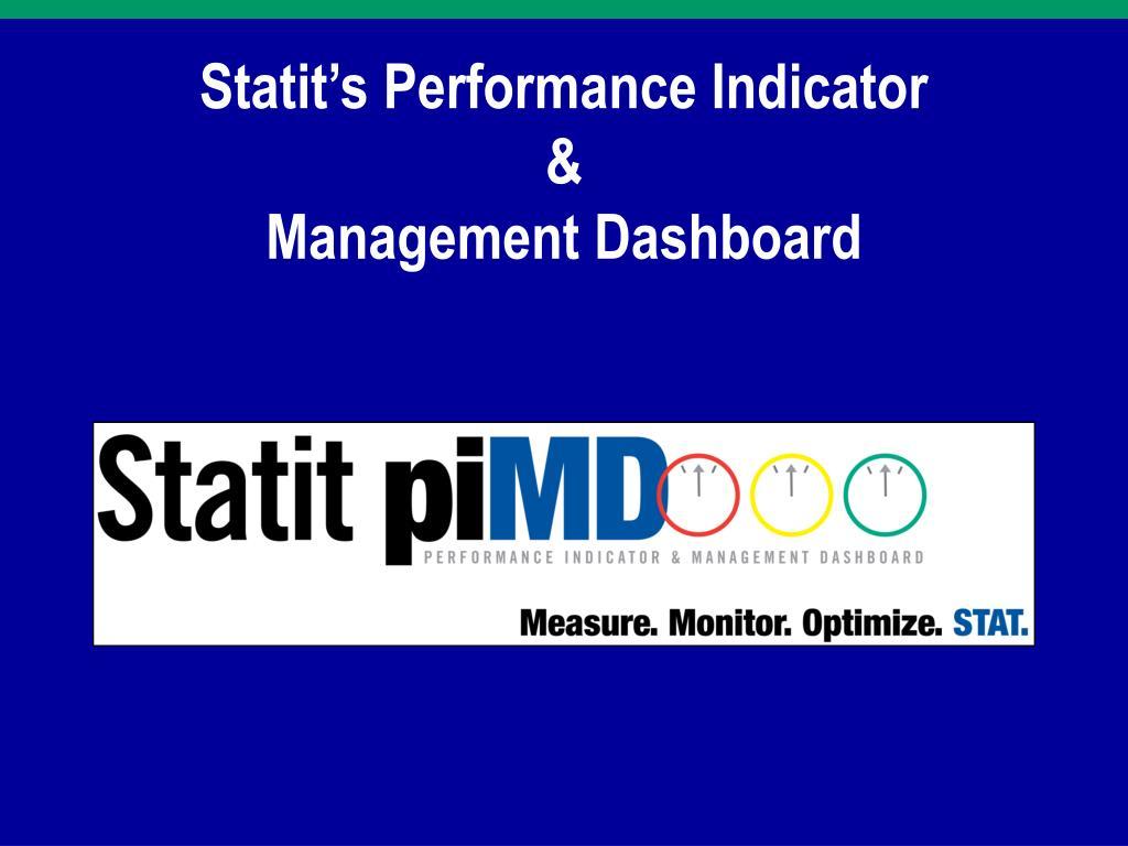 statit s performance indicator management dashboard l.