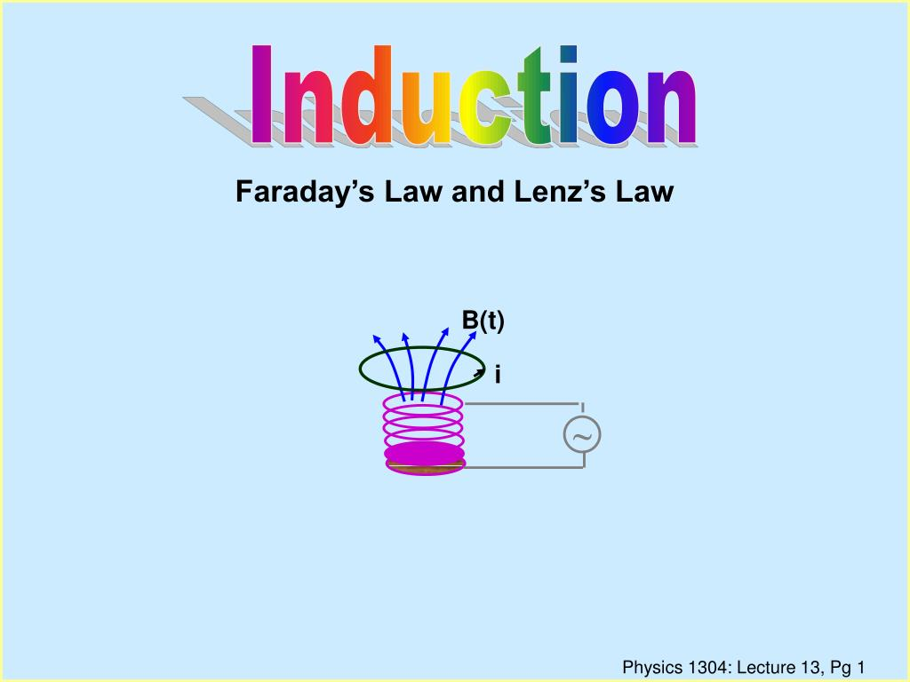 faraday s law and lenz s law l.