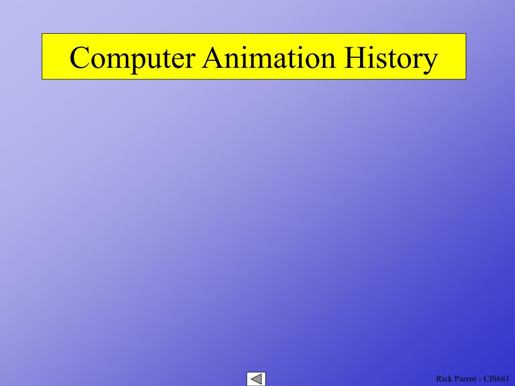 computer animation history l.
