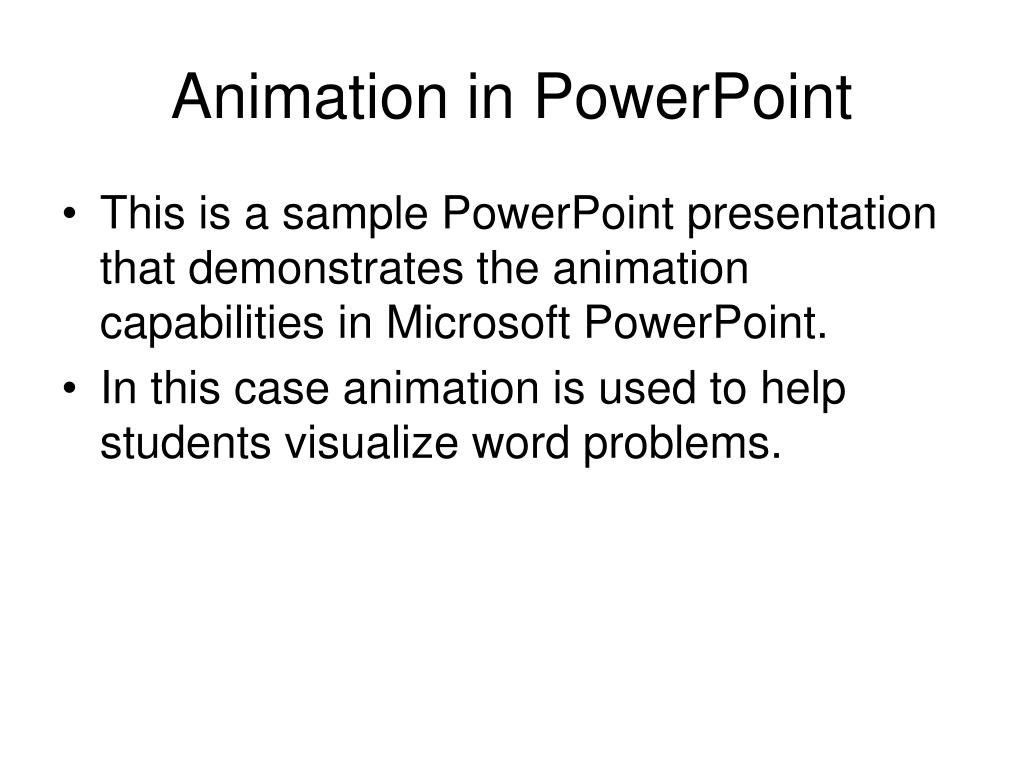 animation in powerpoint l.
