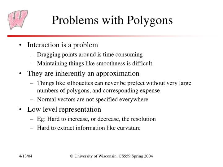 Problems with polygons