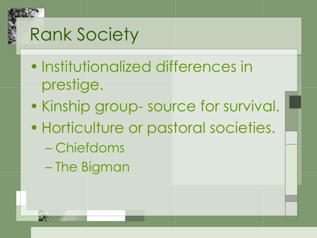 Rank Society
