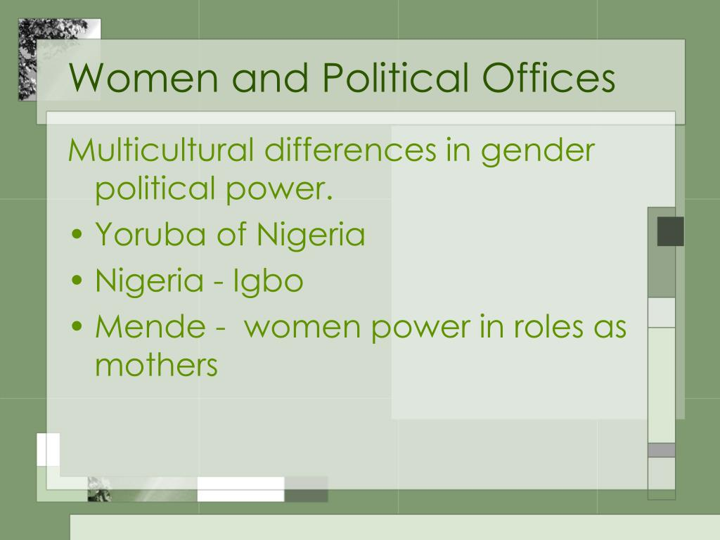 Women and Political Offices