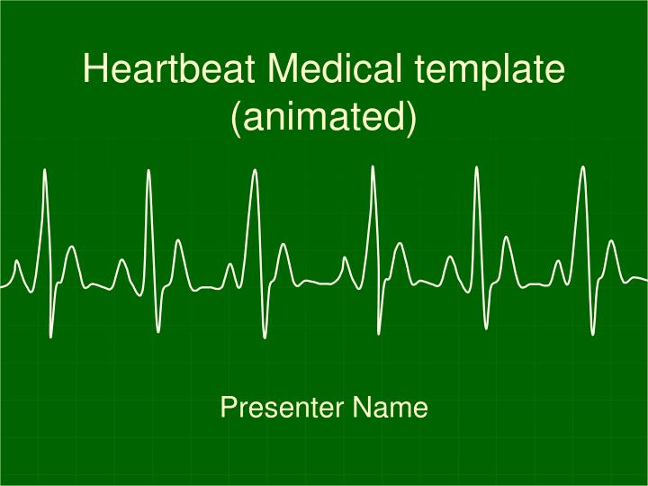 Heartbeat medical template animated