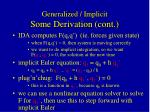 generalized implicit some derivation cont