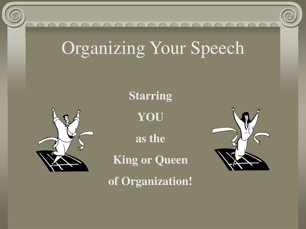 organizing your speech l.