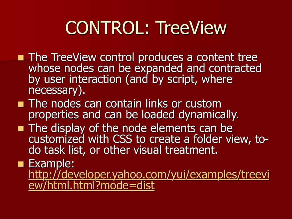 CONTROL: TreeView