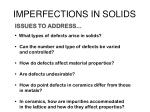 imperfections in solids