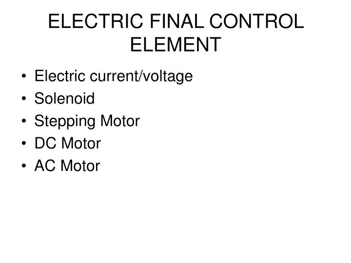 Electric final control element
