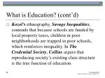 what is education cont d20