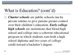 what is education cont d22