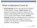 what is education cont d23