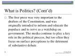what is politics cont d14