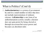 what is politics cont d4