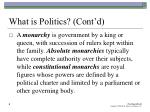 what is politics cont d6