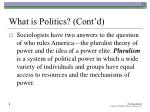 what is politics cont d9