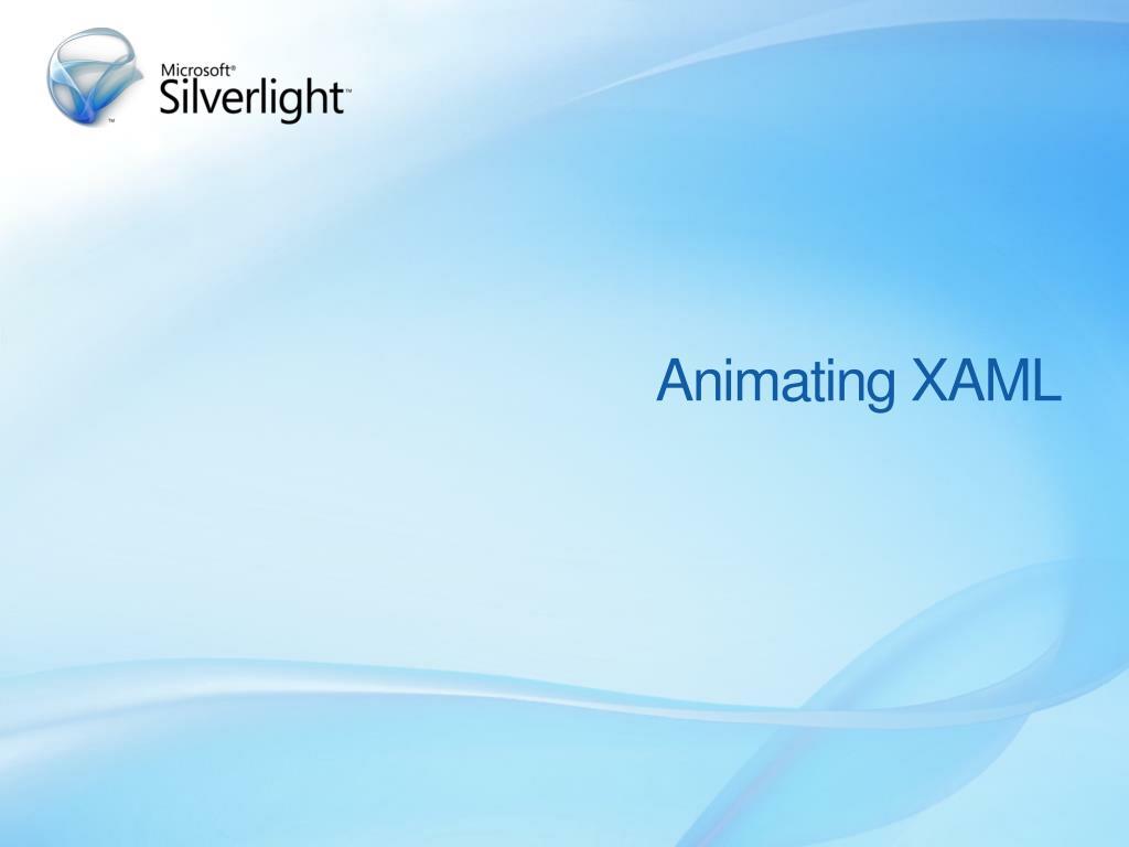 Animating XAML