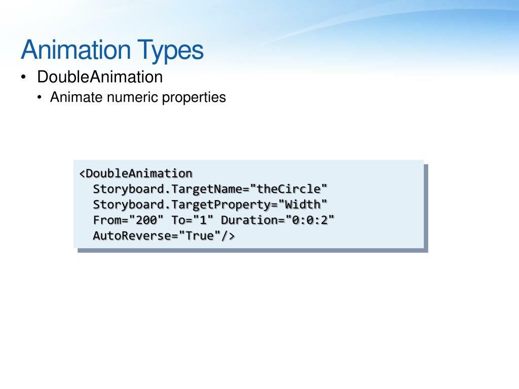 Animation Types