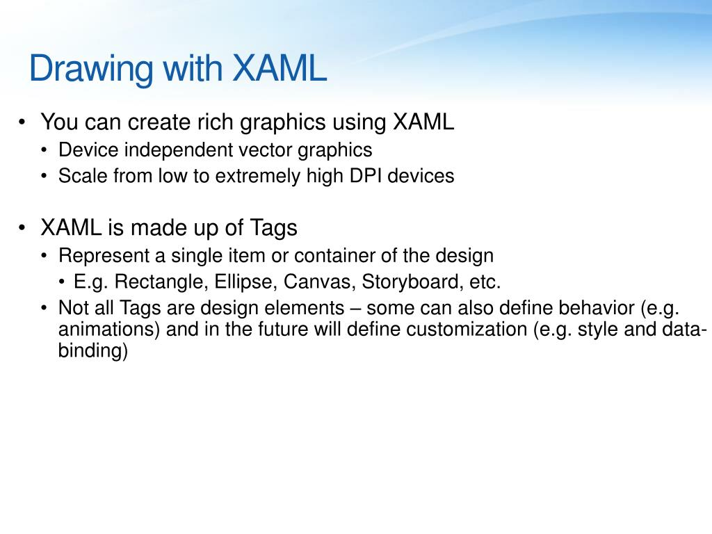 Drawing with XAML