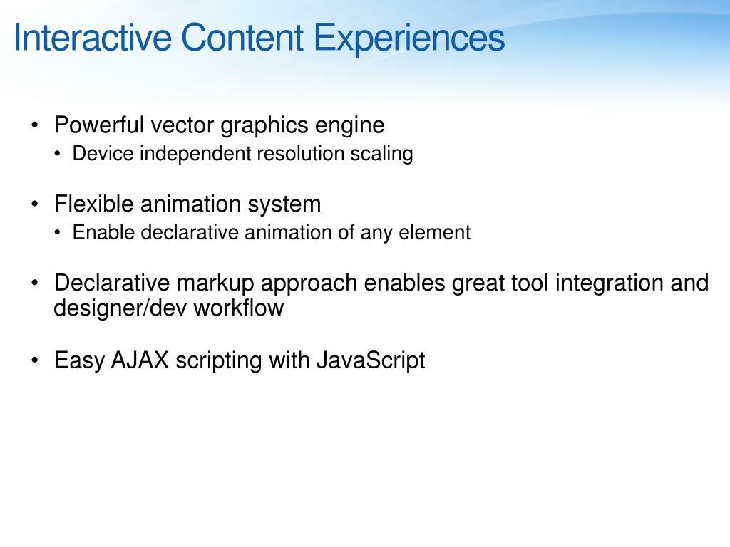 Interactive Content Experiences