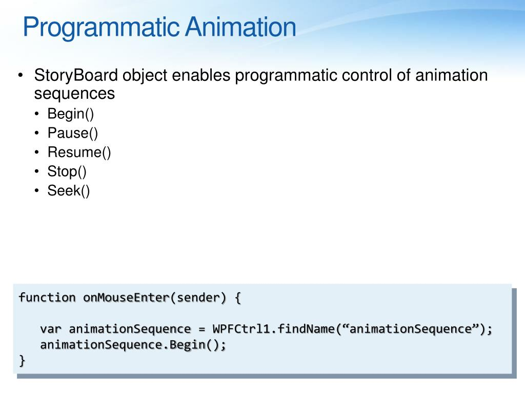 Programmatic Animation