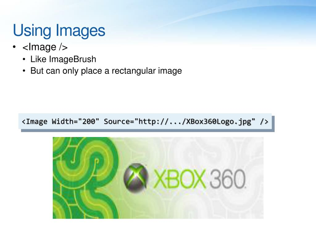 Using Images