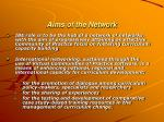 aims of the network