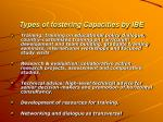 types of fostering capacities by ibe