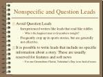 nonspecific and question leads