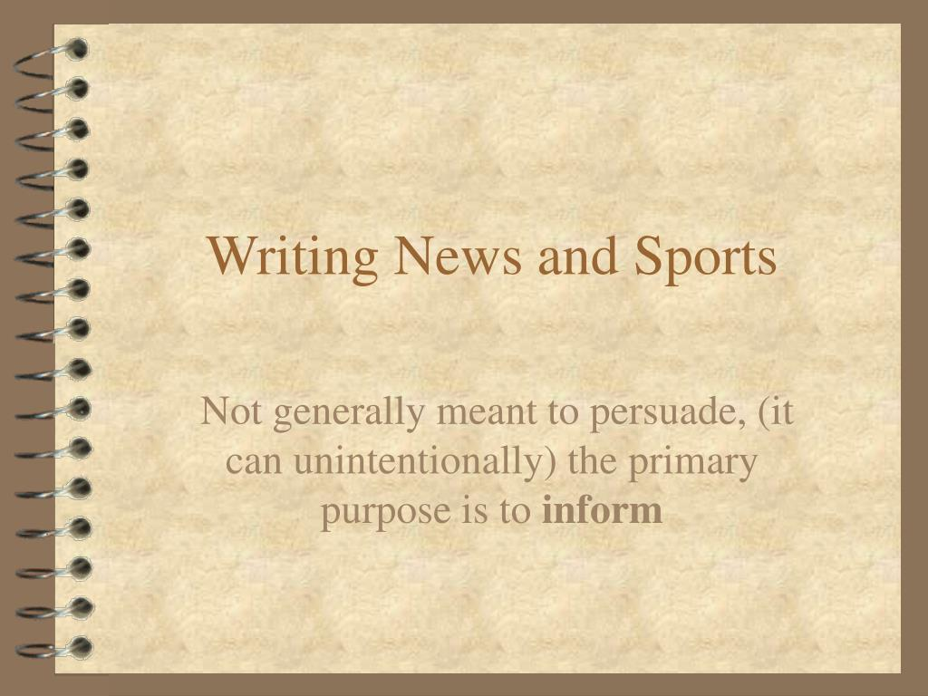 writing news and sports l.