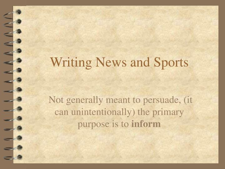 writing news and sports n.