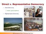 direct v representative democracy