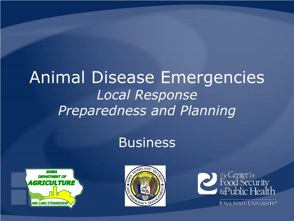 animal disease emergencies local response preparedness and planning l.