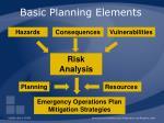 basic planning elements