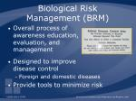 biological risk management brm