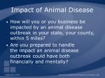 impact of animal disease86