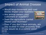 impact of animal disease87