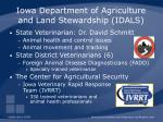 iowa department of agriculture and land stewardship idals