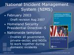 national incident management system nims