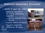 national veterinary stockpile