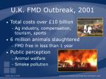 u k fmd outbreak 2001
