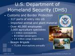 u s department of homeland security dhs