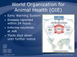 world organization for animal health oie65